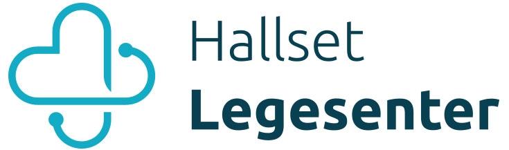 Hallset Legesenter sin logo